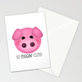 So Piggin' Cute! Stationery Cards