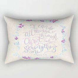 I Can Do All Things - Philippians 4:13 Rectangular Pillow