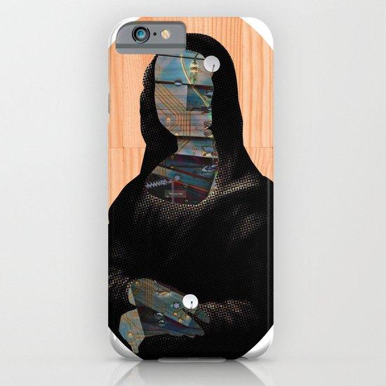 Mona Lisa V1c2b DarkDigital Oval Collage iPhone & iPod Case