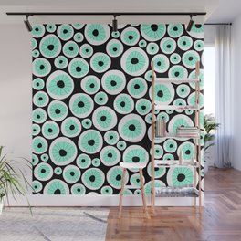 Eye C U | Clear | Black Wall Mural