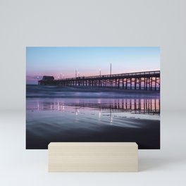 Sunset Beach Pier Mini Art Print