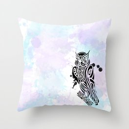 Owl Tribal Throw Pillow