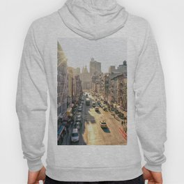 New York City - Chinatown from Above at Sunset Hoody