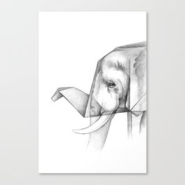 Elephant Origami Canvas Print