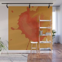 Splat on Brown - by Friztin Wall Mural