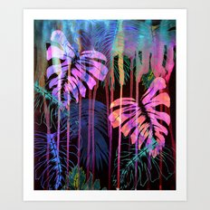 Drippy Jungle {acid} Art Print