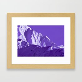 Alaskan Mts. I, Bathed in Purple Framed Art Print