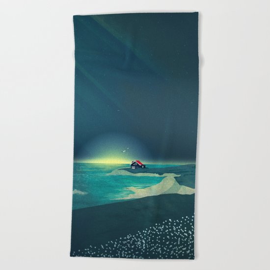 House by the Sea Beach Towel