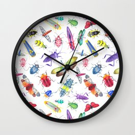 Colorful Bugs and Beetles Collection Wall Clock