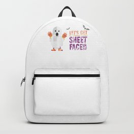 (tshirt) Lets Get Sheet Faced (heavy weathered) Backpack
