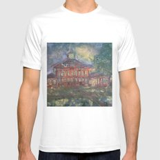 Old Main MEDIUM White Mens Fitted Tee