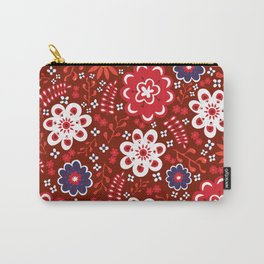 Blooming Red Carry-All Pouch