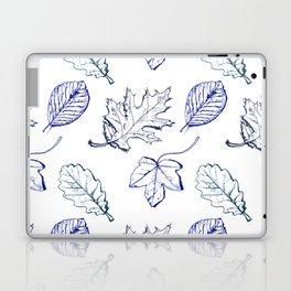 Leaves (navy) Laptop & iPad Skin