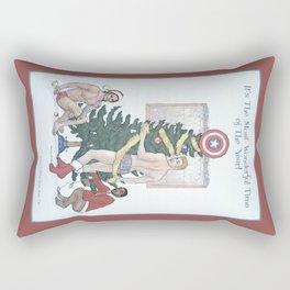 Team Cap Nice Pinup Holiday Card Rectangular Pillow