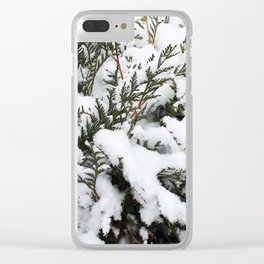 Cedar in the Snow Clear iPhone Case