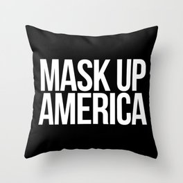 Mask Up America Throw Pillow