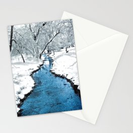 Overnight Snow in Edgemont Park Stationery Cards