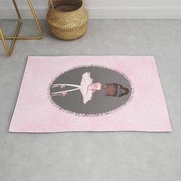 Pink & Grey Brown Ballerina Dancer Rug