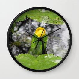 Yellow marsh-marigold Wall Clock