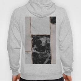 Taupe stones - black marble features Hoody