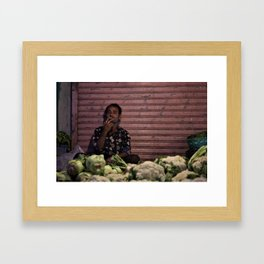About to close Framed Art Print