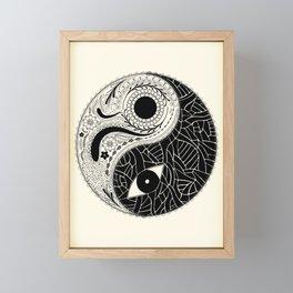 Yin & Yang - [collaborative art with Magdalla del Fresto] Framed Mini Art Print