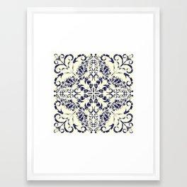 Blueprint Flourish Framed Art Print