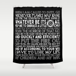 Fireman's Prayer, Firefighter Prayer Shower Curtain