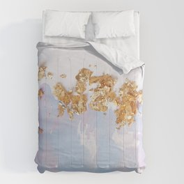 Rose Gold Crumbs on Abstract Watercolor Comforters