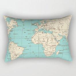 Antique World Map Rectangular Pillow