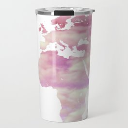 Cotton Candy Sky World Map - Oh, the Places You'll Go! Travel Mug
