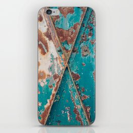 Teal and Rust iPhone Skin