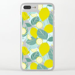 Lemons and Slices Clear iPhone Case