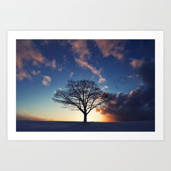 Winter Sunset Art Print