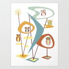 It's Owl Atomic Art Print
