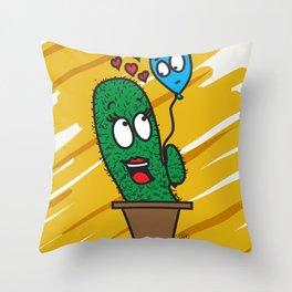 Spiky love Throw Pillow