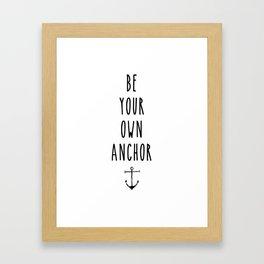 Teen Wolf / Anchor Framed Art Print