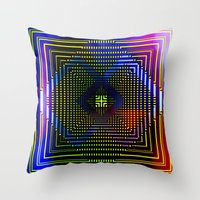 square Throw Pillows featuring Square by Mr and Mrs Quirynen