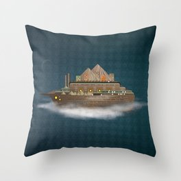 Sailing on a dream Throw Pillow