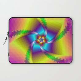 Whirligig in Yellow Blue and Green Laptop Sleeve