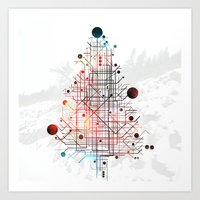 christmas tree Art Prints featuring Christmas Tree by ARCHIGRAF
