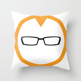 Red Head Logo Throw Pillow