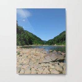 Rocky Water Sky Metal Print