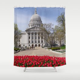 Capitol Spring 1, Madison Wisconsin Shower Curtain