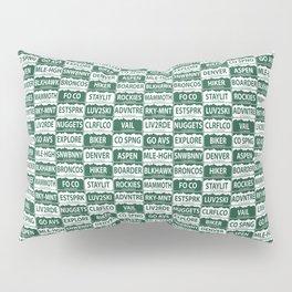 Colorado plates Pillow Sham