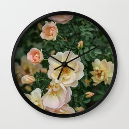 Cluster of Roses Wall Clock