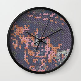 Digital expressionism 022 Pablo Picasso portrait Wall Clock