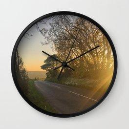 Evening sunset in Ireland Wall Clock