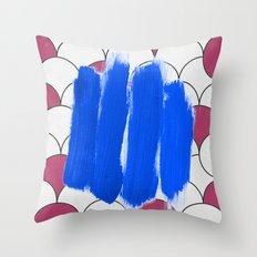 Blu Imperfection Throw Pillow