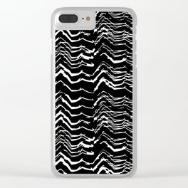 Dark Glitch Abstract Pattern Clear iPhone Case